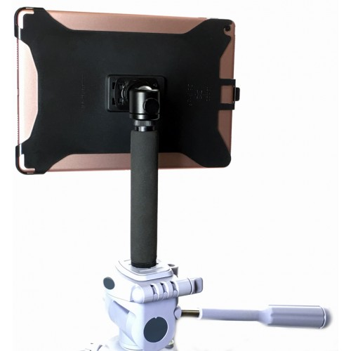 G8 Pro iPad Pro 12.9 (Gen. 1, Gen. 2) Tripod Mount + 8 inch Tripod Adapter + 360° Locking Swivel Ball Head